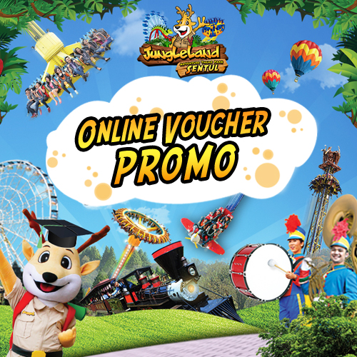 PROMO Jungleland Online (Print) Voucher , Untuk Weekdays, Weekend, & High seasons