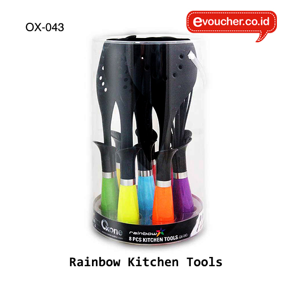 OX-043, Oxone Rainbow Kitchen Tools (Spatula isi 8 pcs)