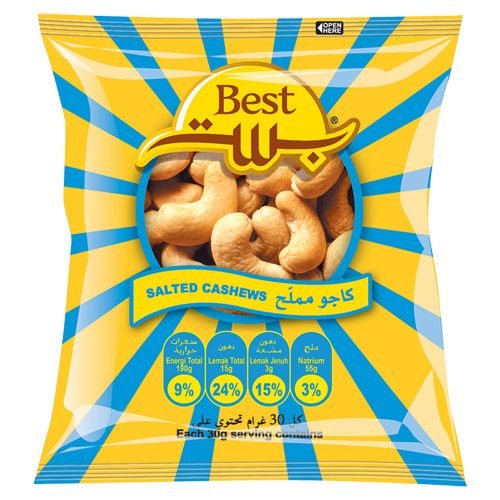 Best Salted Cashew Nuts 150 Gr (pouch)