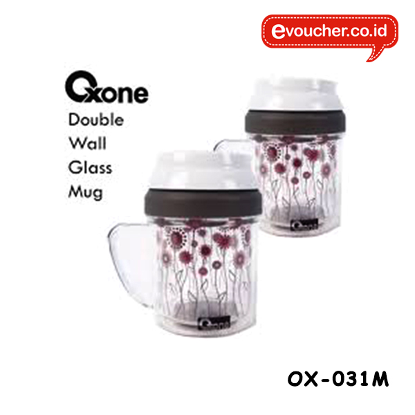 OX-031M, GLASS MUG DOUBLE WALL