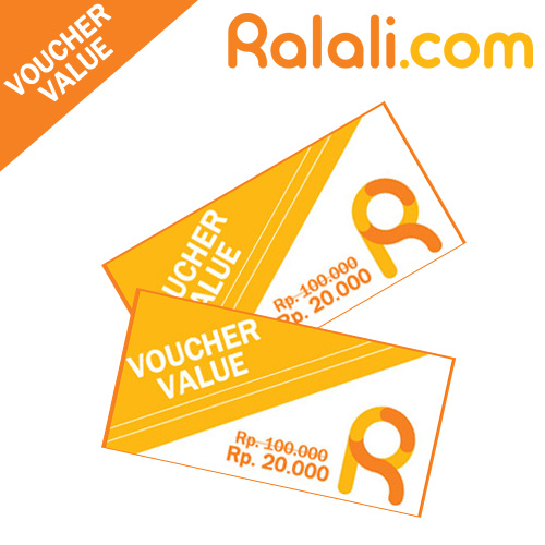 Voucher Value at Ralali.com ! Rp. 20.000 worth for Rp. 100.000 for All Items