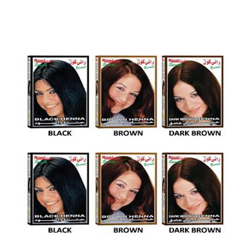 Pewarna rambut Rani kone Speedy Black Brown Dark Brown 10g+8g