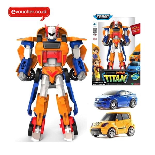 TOBOT MINI TITAN ORIGINAL - 2 MINI CARS COMBINE TRANSFORMING ROBOT