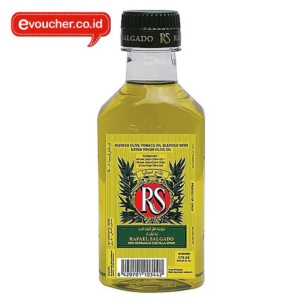 REFINED OLIVE POMACE OIL blended with extra virgin olive oil dengan kemasan botol plastik 175 ml