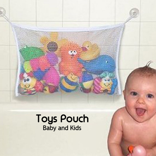 Baby and Kids Toys Pouch, Storage Net/Mesh Bag With Strong Sucker