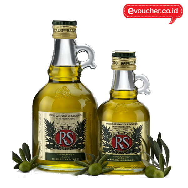 REFINED OLIVE POMACE OIL blended with extra virgin olive oil kemasan jar dengan handle