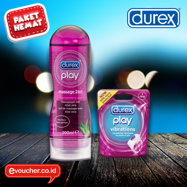 PAHE PAHE! Paket Hemat DUREX PLAY Massage 2in1 + DUREX PLAY Vibration Ring
